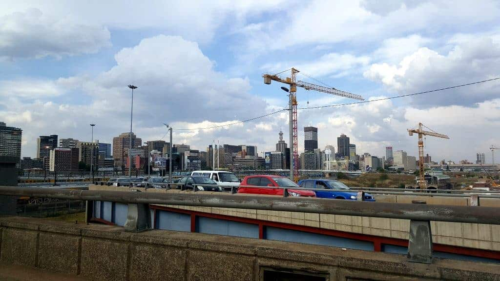 Active construction and development in the city of Johannesburg (October 2016) to possibly attract investment. (Photo by Candice Louw)