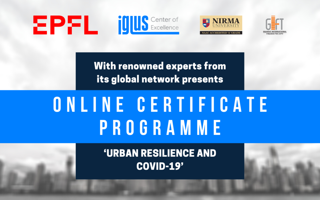 Online Certificate Program on 'Urban Resilience and COVID-19
